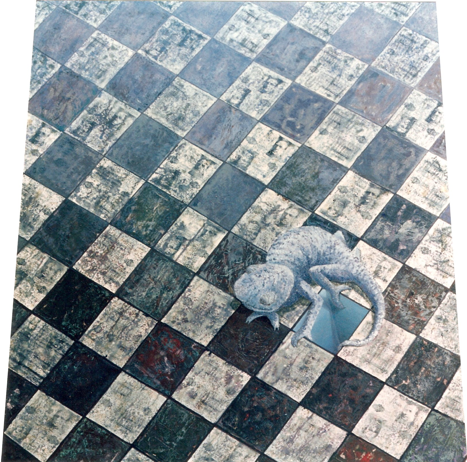 """Hostilidades"". Base inferior 150; superior 130 x 150 cm. Mixta/Tela. 1993."
